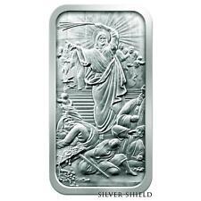2015 .999 fine silver 10 oz Silver Shield bar ~ Jesus Clears The Temple Bar ~ BU