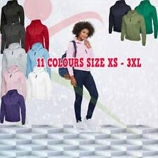 Uneek Ladies Classic Full Zip Hooded Sweatshirt Casual Womens Pullover Hoody TOP