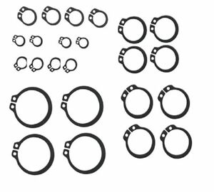NEW 20 x Assorted External circlips 4 each of 6mm, 8mm, 10mm,11mm,12mm