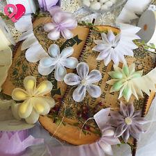Confetti Flower Pull Bow Ribbon Pouch Jordan Almond Holder Wedding Party Favor