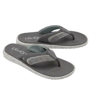 Hey Dude Mens Flinn Sox Grey Flip Flops 112203082