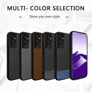 Luxury For Samsung S21 Ultra Case Galaxy S21+ Cover Fabric Shockproof Silicone