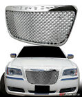 For 2011-2014 Chrysler 300 300C Chrome Luxury Mesh Front Bumper Grille Guard  for sale