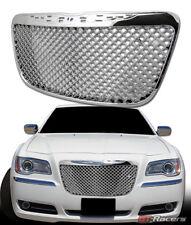 For 2011 2014 Chrysler 300 300c Chrome Luxury Mesh Front Bumper Grille Guard Fits Chrysler 300