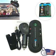 Hot Wireless Bluetooth Hands Free Car Kit Speakerphone Speaker Phone Visor Clip