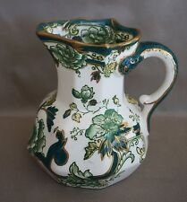 Mason's Patent Ironstone England CHARTREUSE Transfer PITCHER / CREAMER 4.5""