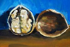 """Walnut Oil painting 8x12"""" Home Decor Free Shipping"""