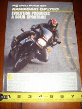 1985 KAWASAKI GPZ750 - ORIGINAL ARTICLE GPZ 750