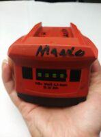 Used Hilti 18V+ Volt 21.6V 3.3Ah B18 CPC Li-ion Cordless Tool Drill Battery