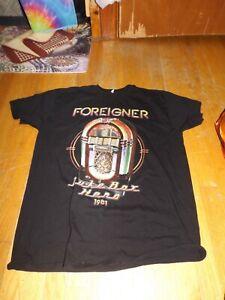 Foreigner 1981 Juke Box Hero concert Tour black t-shirt XL