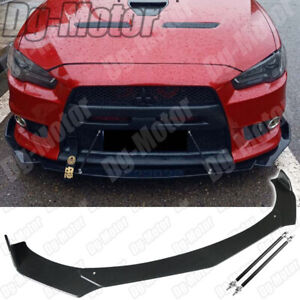 For MITSUBISHI Lancer EX GTS Evolution Front Lip Splitter Spoiler + Rod Support