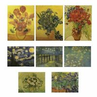 Van Gogh Oil Painting/Kraft Paper/Bar Retro Poster Poppy Painting Lovely New
