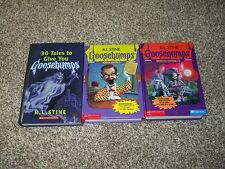 Lot of 3 Goosebumps by R. L. Stine Hardcover w/ 2 Monster Editions Books