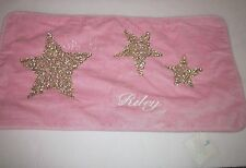 NWT Pottery Barn Pink SEQUIN Star Lumbar Pillow Sham Lucy Horse Bedding RILEY