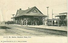 Early 1900's S.A.L. Railroad Station in Southern Pines, NC  North Carolina PC