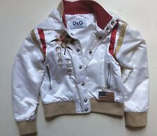 Dolce & Gabbana junior jacket embroidered Muay Thai Tiger satin 100% authentic