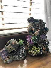 New listing Aquarium Decor Coral Reef Hiding Decoration Large 12� And Small 6�