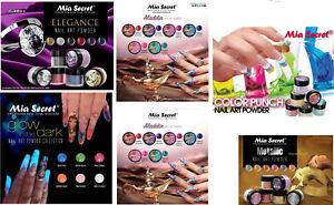 Mia Secret Nail Art Acrylic Collection Powder 6 Colors Set - CHOOSE YOUR SET