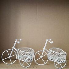 10pz Bicicletta a tre ruote Cestino Cuore Ferro Vernice Portaconfetti candela