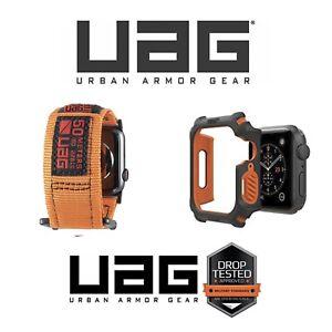 UAG Urban Armor Gear ACTIVE Nylon Strap Band 42-44m & Rugged Case 44 Apple Watch