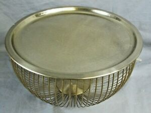 "Gold Effect Coloured Bowl with Plate Top Ex-Display 14"" Diameter Home Décor"