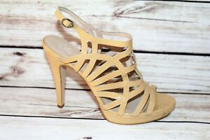 Wittner Brand Cream Patent Leather Strappy Heels Size 41 LIKE NEW