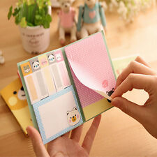 Portable  1PcsCartoon Cute Kraft Paper Notepad Memo Diary Notebook Exercise Book