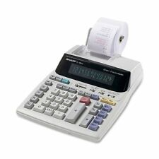 Sharp Printing Calculator - 12 Character(s) - Fluorescent - Power Adapter (sharp