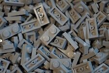 LEGO 300 x LIGHT GREY PLATE BRICKS 1x2 PIN No 3023 CITY-STAR WARS-MOVIE-FRIENDS