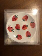 Kate Spade Melamine Tidbit Plates -Strawberries- NEW