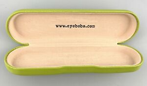 Eyebobs Eyeglasses Case Only Hardcase Clamshell Green Slim
