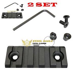 2 PCS Keymod 5 Slot Picatinny/Weaver Rail Handguard Section Aluminum 2 inch