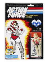 Action Force / GI Joe Ace Fighter Pilot MOC Carded Custom Sticker Offer