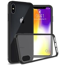 Clear w/ Black Rim Slim Fit TPU Bumpers Cover Phone Case for Apple iPhone XS Max
