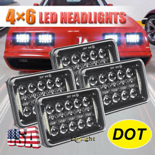 "4x6"" Led Projector Headlights for Kenworth Freightliner Pontiac Firebird Trucks"