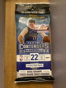 panini contenders 2021 basketball value pack (22 cards per pack)