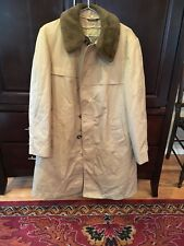 Northern Aire Tan Goose Down Insulated Button Up Coat Removable Lining