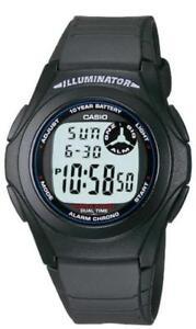Casio Herrenuhr Armbanduhr F200W1AEF Herren Digital Uhr Unisex Damen Schwarz NEU