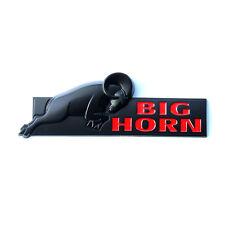 1x OEM Black BIG HORN Emblem BIGHORN Fender Badge Ram 1500 2500 Mopar F Red