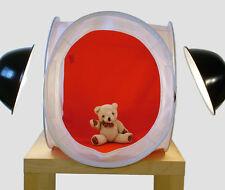 Light Tent 50cm Photo Cube Soft Box +4 colour backdrops. UK Seller/Fast Despatch