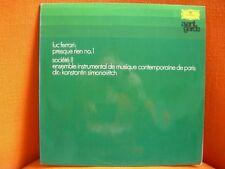 VINYL 33T – MUSIQUE CONCRETE MUSIC: LUC FERRARI: PRESQUE RIEN N°1 – DEUTSCHE G