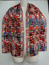 12 Pack of World Cup Flags Scarves - Polyester Scarf With 32 International Flags