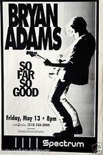 "BRYAN ADAMS ""SO FAR SO GOOD TOUR"" PHILADELPHIA 1994 CONCERT POSTER-Guitar Jammer"