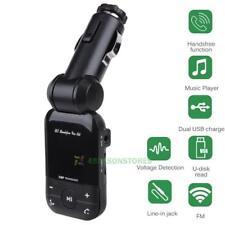 Bluetooth Car FM Transmitter LCD Hands-Free Card Reader Dual USB Radio Adapter