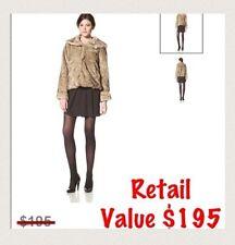 LatteBLACK Women's Faux Fur Chubby Coat ~ Retail $195
