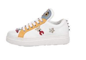 Designer Sneakers, PRADA, White Leather, size 38 EUR / 8 US (was $1,730)