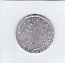 500 Mark 1923 F Deutsches Reich German Empire OTTIMO mantenimento 20 ° rotazione TIMBRO
