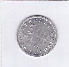 500 Mark 1923 F Deutsches Reich German Empire prima Erhaltung 20° Stempeldrehung