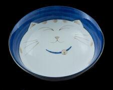 Grand Bol Chat Japonais Maneki Neko 19 cm Porcelaine Du Japon Made In Japan -211