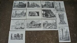 Old book prints of etchings from by Giovanni Battista Piranesi 1720-1778 1976